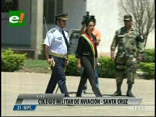 Montaño recibe el reconocimiento de las Fuerzas Armadas y la Policía