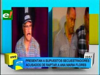 Felcc presenta a supuestos secuestradores de la ex-senadora Ana María Flores