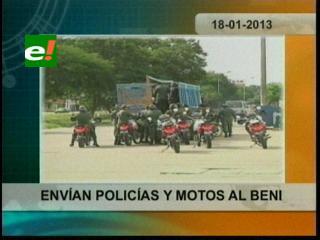 A dos días de las elecciones: Policías de Santa Cruz y La Paz reforzarán seguridad en Beni