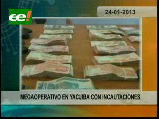 Megaoperativo policial en Yacuiba con incautaciones de vehículos y decomiso de armas y droga