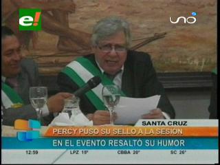Aniversario de Santa Cruz: Percy le dedicó un poema al Ministro de Gobierno
