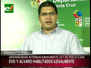 Gobernación cruceña presentará demanda internacional contra reelección de Evo
