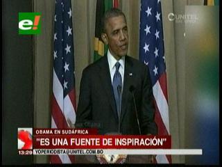 """Obama califica a Mandela de """"fuente de inspiración para el mundo"""""""