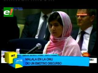 """Malala pide en la ONU redoblar los esfuerzos por una """"educación para todos"""""""