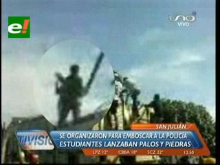 Así los universitarios de San Julián emboscaron a la Policía