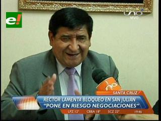 Rector de la Uagrm advierte la falta de recursos para pedido de San Julián