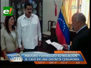 Venezuela ya tiene Primera Dama, Nicolás Maduro contrajo matrimonio