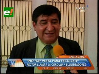 """Rector Rosas: """"No hay plata para construir una facultad en San Julián"""""""