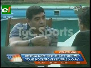 """Maradona: """"Riquelme nunca me dio la posibilidad de escupirle en la cara"""""""