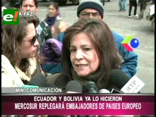 Bolivia repliega temporalmente a embajadores en España, Italia y Francia
