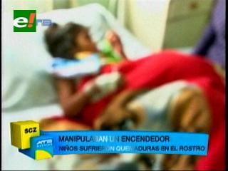 Dos menores heridos en explosión de garrafa