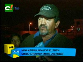 Santa Cruz: Niña es arrollada por un tren, quedó atrapada entre las rieles