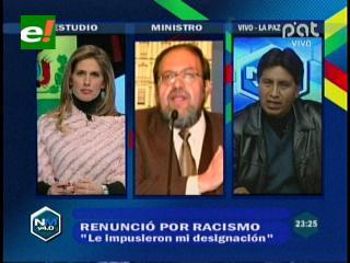 Ex viceministro Quispe denuncia que se discrimina a los indígenas en el Ministerio de Educación
