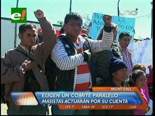 Se enfrentaron a los autonomistas: Masistas toman Comité Cívico de Montero e izan la wiphala