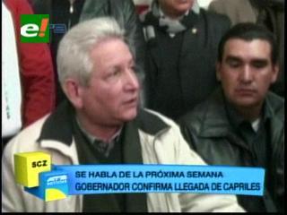 Gobernador Rubén Costas confirma visita de Henrique Capriles