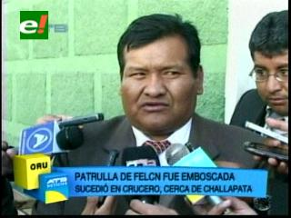 Oruro: Hieren a efectivos de Felcn