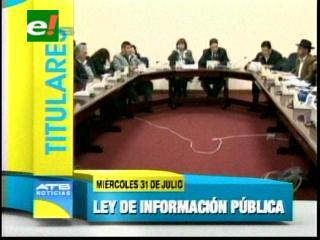 Titulares: Comisión parlamentaria aprueba en grande el proyecto de ley de acceso a la información pública