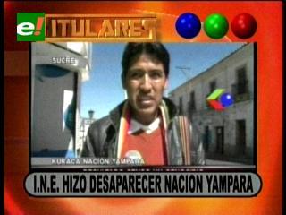 Titulares: Denuncian que el INE hizo desaparecer la nación Yampara y otras noticias