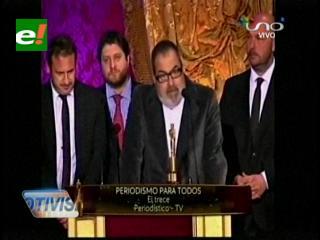 """Jorge Lanata en los Martín Fierro 2013: """"Hay una grieta en la Argentina"""""""