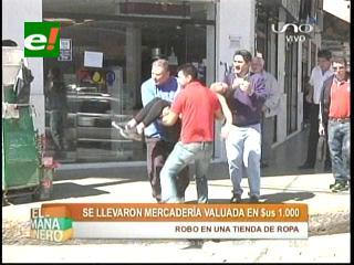 Santa Cruz: Delincuentes vaciaron una tienda de ropa