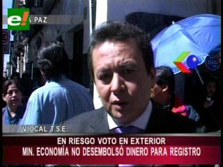 TSE advierte que está en riesgo el voto en el exterior, no se desembolsó recursos para empadronamiento