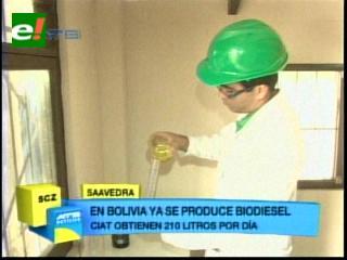 CIAT activa primera planta para producir biodiésel en Bolivia