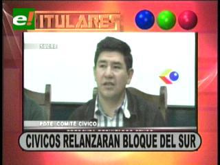 Titulares: Cívicos relanzarán el bloque del sur