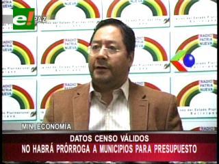 """Ministro Arce: """"No habrá prórroga para la presentación del POA de municipios y gobernaciones"""""""