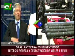"""Vicepresidente llama """"traidor a la Patria"""" al senador Antezana"""