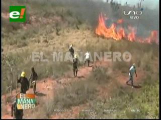 Incendio: Parte un helicóptero cisterna para apagar el fuego en San José de Chiquitos