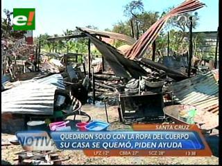 Incendio deja en la calle a tres familias en Los Lotes