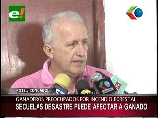 Ganaderos temen pérdidas por incendio en San José de Chiquitos