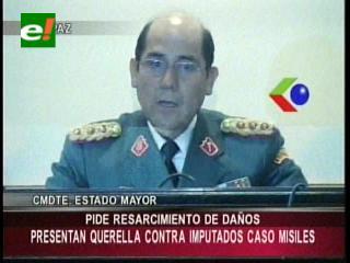 Ejército oficializa querella ante la Fiscalía General a implicados en caso misiles