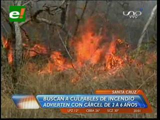El fuego consumió más de 20.000 hectáreas de bosque seco chiquitano