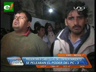 Presentan a los presuntos cabecillas del enfrentamiento en Palmasola