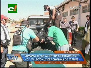 Suman a 35 los muertos por la tragedia en Palmasola