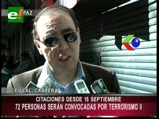 72 personas serán convocadas a declarar por el caso terrorismo II