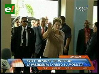 Dilma expresó a Evo su 'repudio' por la forma en que salió Pinto de Bolivia