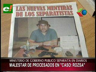 Caso terrorismo: Malestar en los procesados por separata publicada en los diarios por el Ministerio de Gobierno