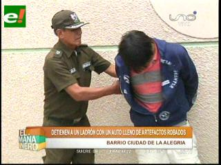 Ladrones abandonan auto con artefactos robados, hay un detenido
