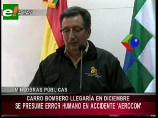 Accidente aéreo en Beni: Gobierno anuncia la implementación de bomberos en Riberalta