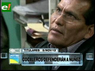 Titulares: Cocaleros de los Yungas defenderán al viceministro de la Coca Dionisio Núñez