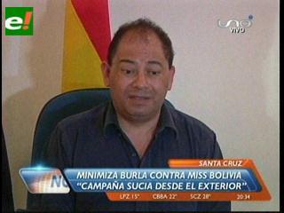 """Ministro Romero sobre la parodia a la Miss Bolivia: """"Es una campaña sucia desde el exterior contra el país"""""""
