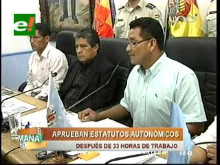 Asamblea de Cochabamba aprueba Estatuto Autonómico