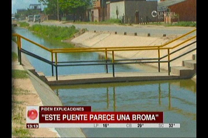 Santa Cruz: Fotografía de un puente sin proyección se hizo viral en las redes
