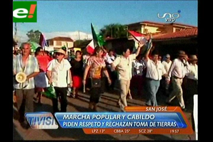 Josesanos rechazan asentamientos y piden desalojo de tierras