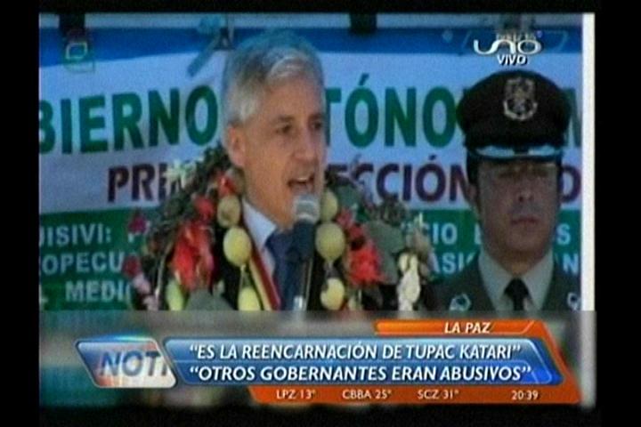 """García Linera: """"Evo es la reencarnación de Túpac Katari"""""""