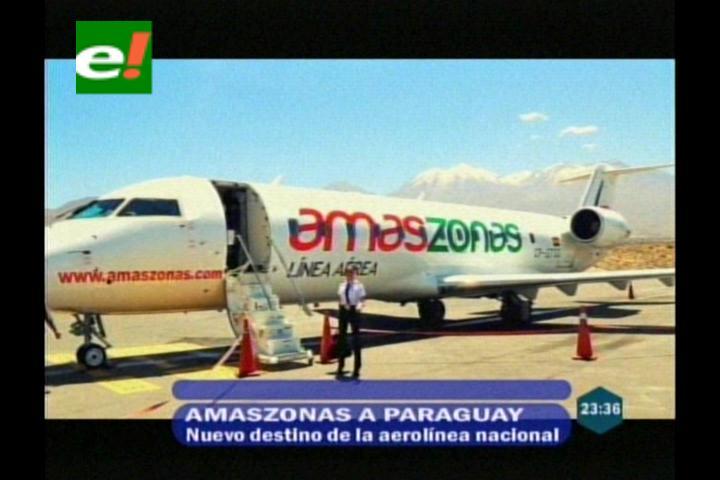 Amaszonas alza vuelo el 27 de este mes a Paraguay