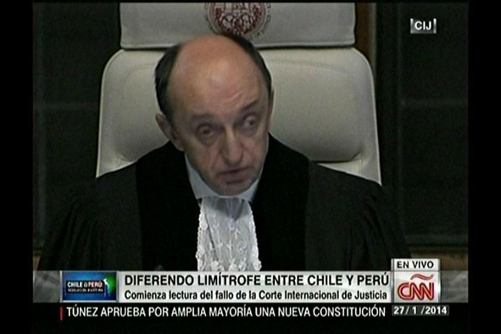 La Corte Internacional de Justicia de La Haya entrega su veredicto por el diferendo marítimo de Chile y Perú