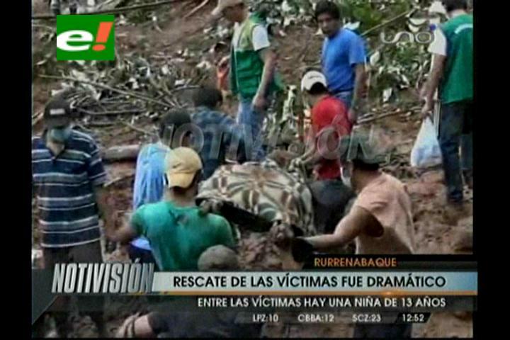 Imágenes de la tragedia en Rurrenabaque